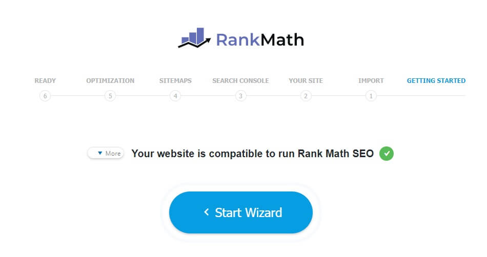 אשף התקנת Rank Math
