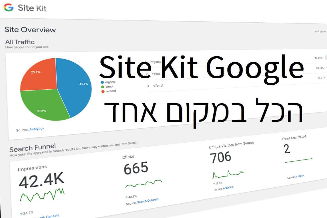 לוח הבקרה הראשי של התוסף מאפשר למשתמשים לראות מדדים משירותי גוגל
